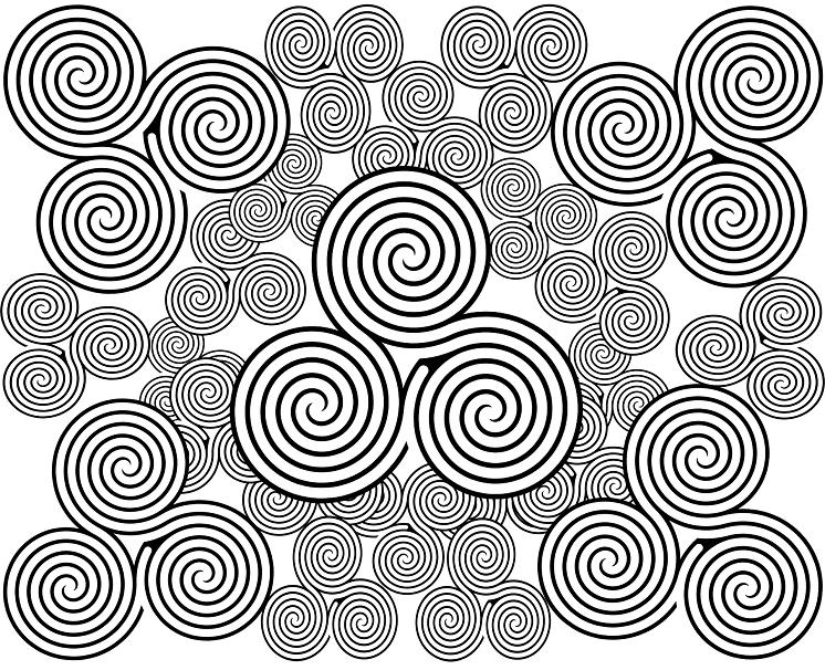 картина черные спирали