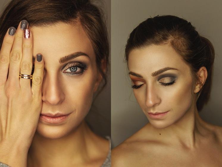 красивый вечерний макияж для голубых глаз
